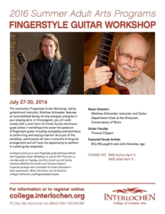 Fingerstyle Guitar Workshop, Interlochen MI @ Mallory-Towsley Center, Interlochen Center for the Arts  | Interlochen | Michigan | United States