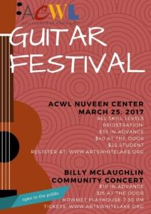 Whitehall, MI — White Lake Guitar Festival 2017 Workshops @ ACWL-Nuveen Center | Whitehall | Michigan | United States